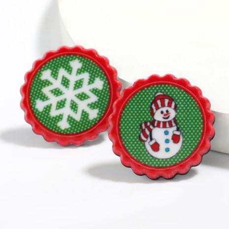 snowflake snowman pattern earrings wholesale NHJE261691's discount tags