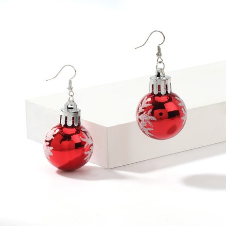 Christmas series creative resin snowflake light ball earrings  NHJE261695's discount tags