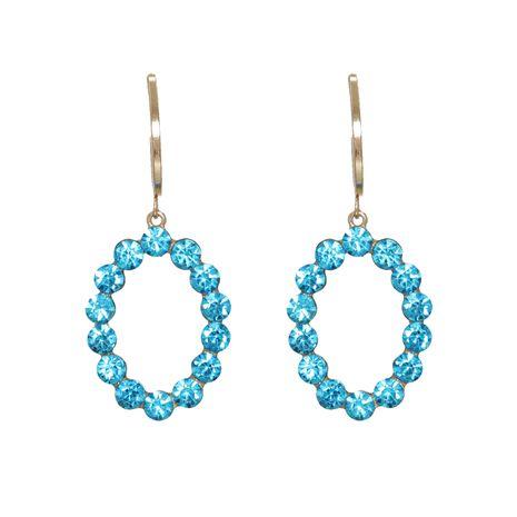 Nouvelle mode coréenne sauvage plein diamant ovale eau artificielle boucles d'oreilles géométriques étoiles NHJJ261699's discount tags