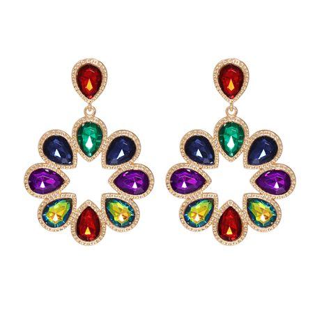 Korean new fashion wild green full diamond artificial crystal earrings  NHJJ261705's discount tags