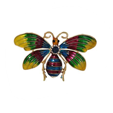 hot sale new fashion alloy oiled color butterfly brooch wholesale  NHJJ261706's discount tags