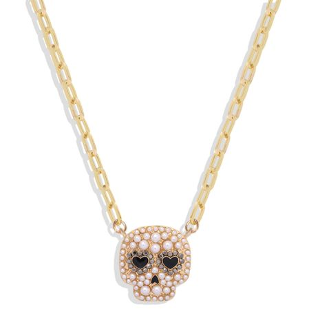 new Halloween retro fashion skull necklace wholesale NHJQ261708's discount tags