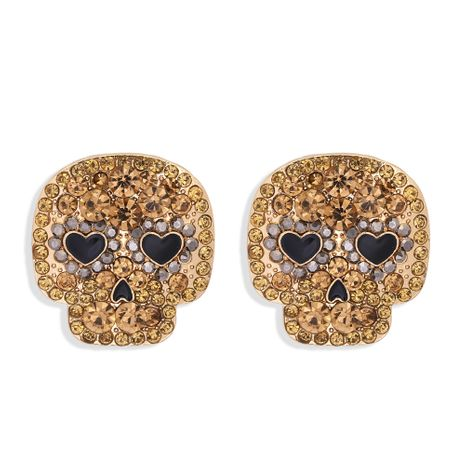 Halloween retro punk hip hop rock skull ghost head earrings  NHJQ261710's discount tags