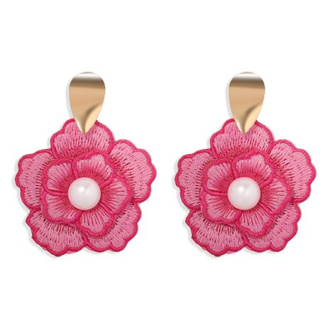 retro exaggerated embroidery elements craft flower earrings  NHJQ261716's discount tags