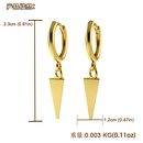 simple  geometric  exaggerated copper long triangle earrings NHJQ261721