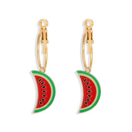 Korea creative  watermelon series drip earrings NHJQ261728's discount tags
