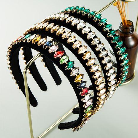 Hot selling fashion  black gold velvet  headband NHLN261736's discount tags