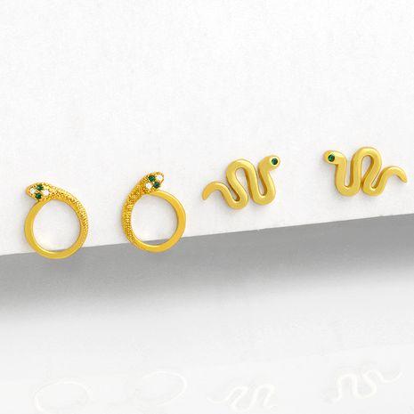 Pendientes de cobre salvaje simples en forma de serpiente lisa en forma de serpiente de moda para mujer NHAS261743's discount tags