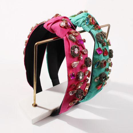 fashion fabric wide brim  Baroque retro court  headband NHMD261754's discount tags