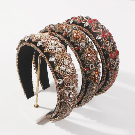fashion thick sponge  Baroque  headband  NHMD261756's discount tags