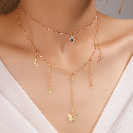 new  fashion star moon butterfly necklace  NHGY261771's discount tags