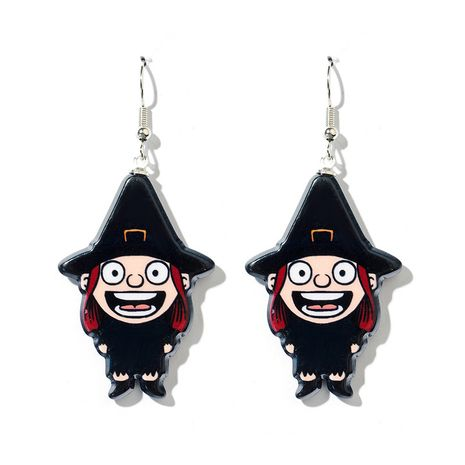 new  Halloween skull   exaggerated ghost  earrings NHGY261782's discount tags