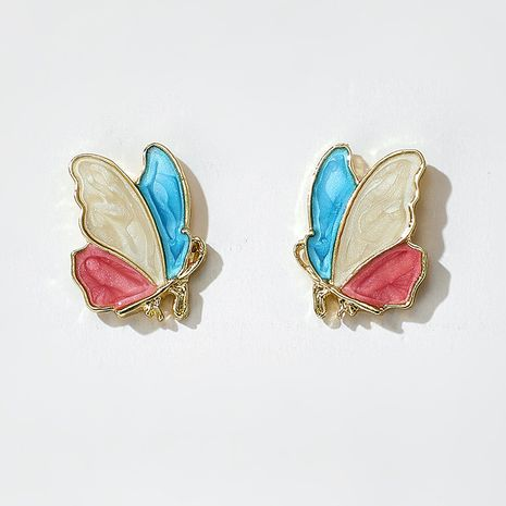 new  simple Korean  color butterfly earrings  NHGY261784's discount tags