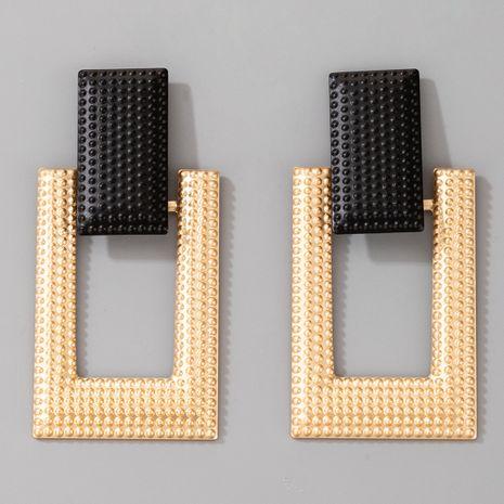 new  retro geometric rectangular earrings  NHGY261795's discount tags