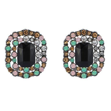Nuevos pendientes coloridos de diamantes rectangulares salvajes de moda NHGY261796's discount tags