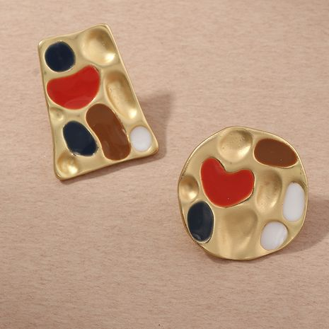 matte texture palette trendy earrings NHNZ261805's discount tags