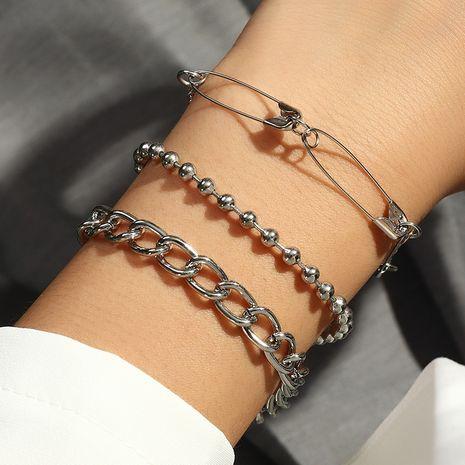wholesale mode nouveau style punk perle ronde bracelet broche à la mode 3 pièces NHNZ261806's discount tags