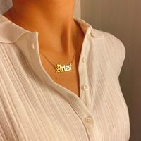 moda simple doce constelaciones collar de acero inoxidable de moda para mujeres NHXR261817