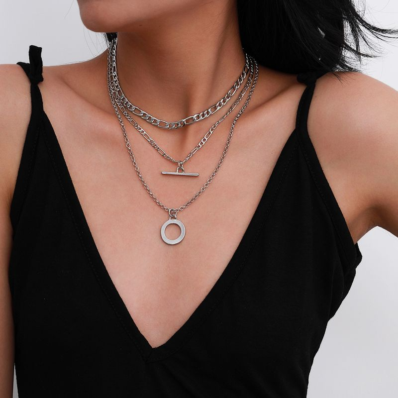 fashion simple trendy OT buckle clavicle new alloy necklace for women NHXR261819