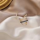 Korea 925 silver needle microinlaid zircon threelayer style exaggerated retro earrings for women NHMS261837