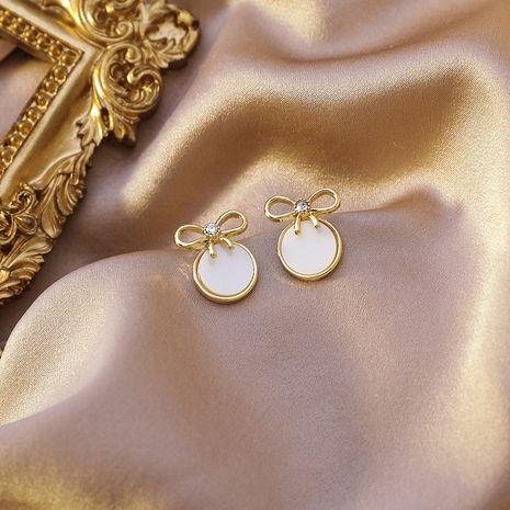 Corea 925 Aguja de plata Bowknot Shell Simple Círculo pequeño Nuevos pendientes dulces NHMS261843's discount tags