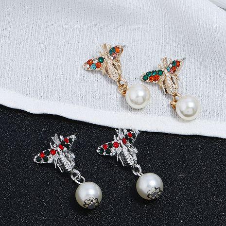 Pendientes de borla salvaje con colgante de perlas de diamantes de insectos retro de moda nuevos NHKQ261863's discount tags