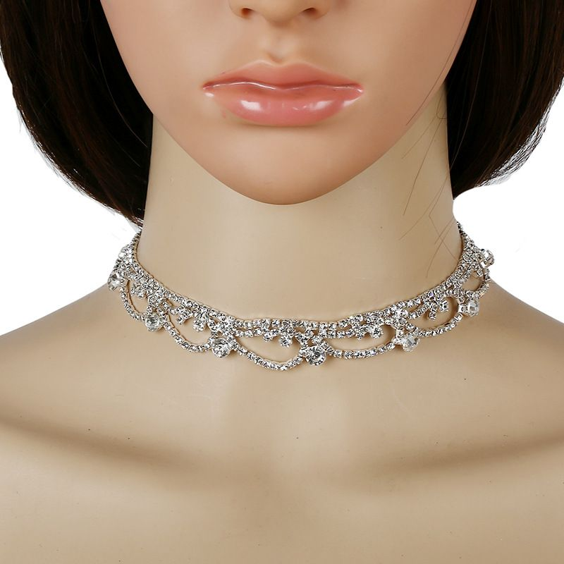 Fashion new trend full diamond clavicle necklace for women NHKQ261869