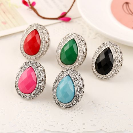 Fashion new exaggerated resin diamond-studded crystal ring  NHKQ261885's discount tags