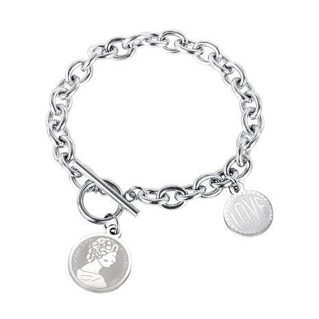 nouveau bracelet à boucle OT simple coréen en acier titane NHOP261909's discount tags