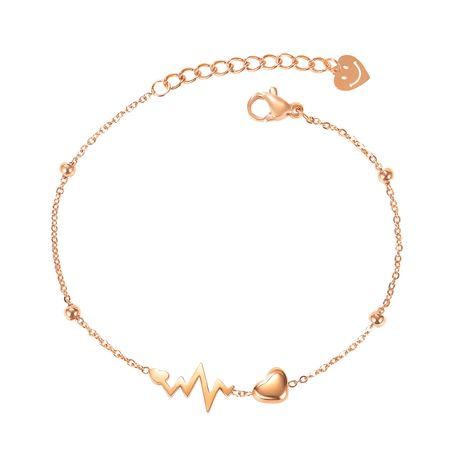 nouveau bracelet de cheville d'amour coréen en acier titane sauvage NHOP261918's discount tags