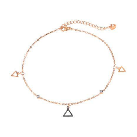 Bracelet de cheville en acier titane triangle creux géométrique simple de Corée NHOP261919's discount tags