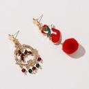 dripping oil hair ball cute  deer Christmas earrings  NHLA261975