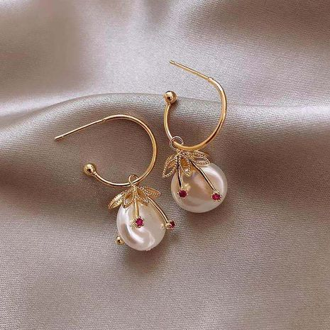925 silver needle tide Baroque style pearl new alloy earrings for women NHXI261983's discount tags