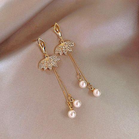 S925 silver needle Korean simple wild ballet girls long alloy earrings NHXI261986's discount tags