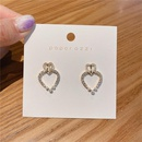 Korean s925 silver needle circle zircon simple  earrings NHXI262008