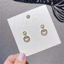 Korean s925 silver needle circle zircon wild earrings for women hotsaling wholesale NHXI262021