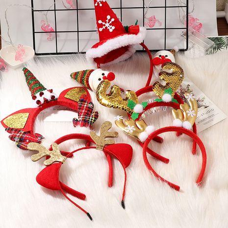 new  cute snowman antlers Christmas headband  NHAU262045's discount tags