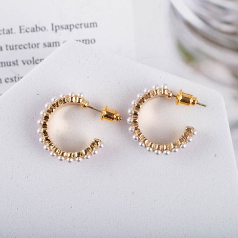 New fashion Korean s925 silver needle women's oil drop pearl earrings  NHQS262066's discount tags
