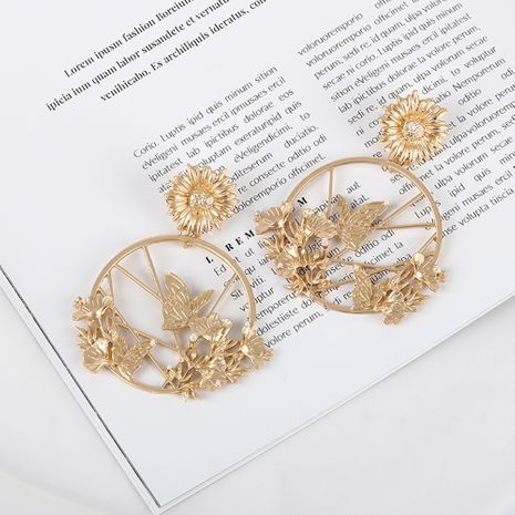 Fashion daisy butterfly pearl matte alloy earrings for women hot-saling NHQS262068's discount tags