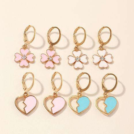 Pendientes de corazón de melocotón coloridos de moda para mujer NHNU262974's discount tags