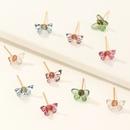 cute colored butterfly stud earrings for women NHNU262972