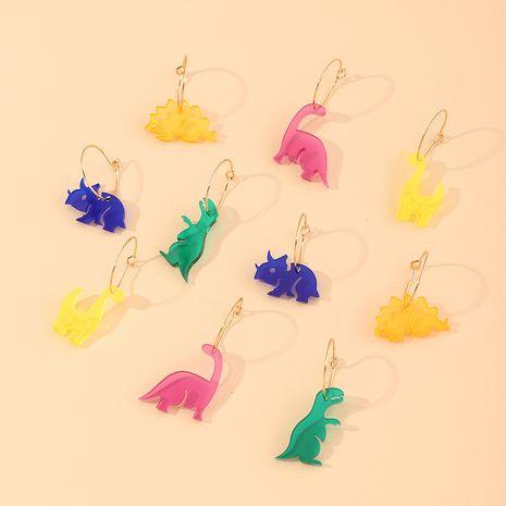 lindos pendientes de dinosaurios de animales de colores al por mayor NHNU262969's discount tags