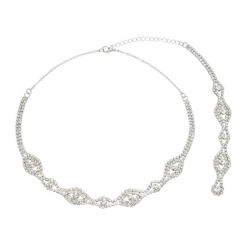 Fashion sexy tassel pendant diamond necklace wholesale NHHS259896