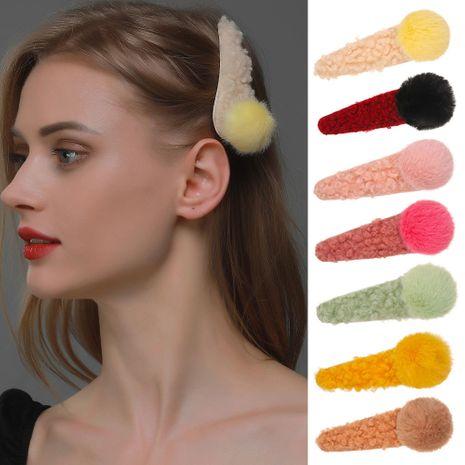 Korean plush side clip cute hit color lamb hair clip hairpin  NHDP262232's discount tags