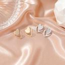 simple double love earrings heartshaped personalized earrings NHDP262234