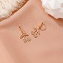 short sweet zircon cherry  personality  fruit earrings   NHDP262235