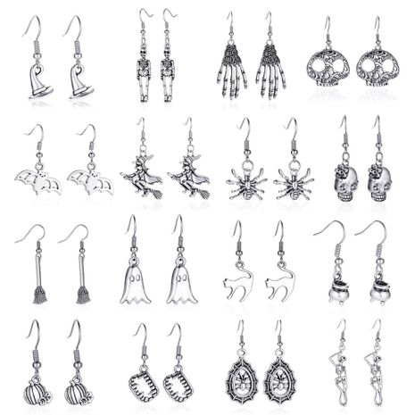 Halloween simple retro skull bat spider earrings wholesale NHDP262236's discount tags