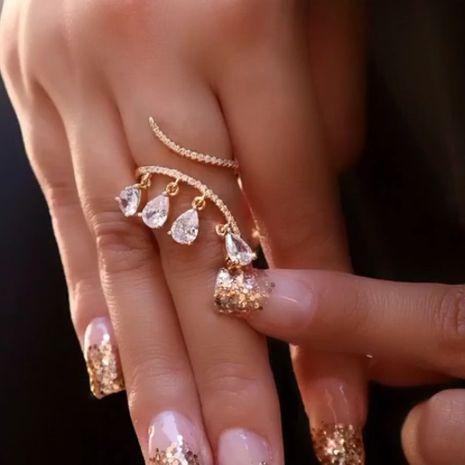 anillo de dedo índice colgante de moda de circón creativo de moda NHDP262243's discount tags
