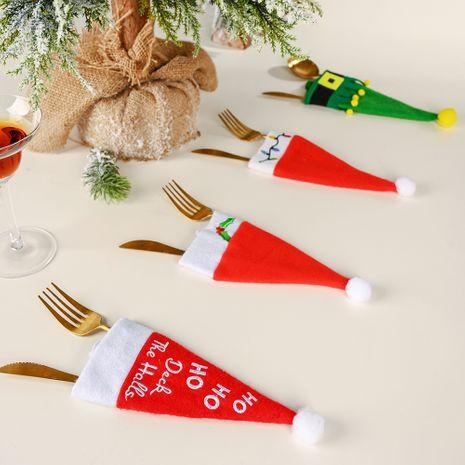 nouvelle décoration de Noël chapeau couteau et fourchette ensemble décoration de table ensemble de bouteilles de vin NHHB262245's discount tags