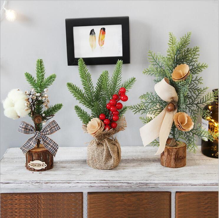 Christmas Mini Tree Decoration Desktop Atmosphere Decoration Potted Christmas Tree NHHB262247